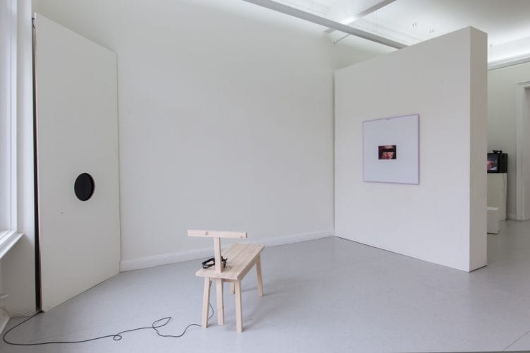 Installation view with works by Martin Bothe and Friedemann Heckel
