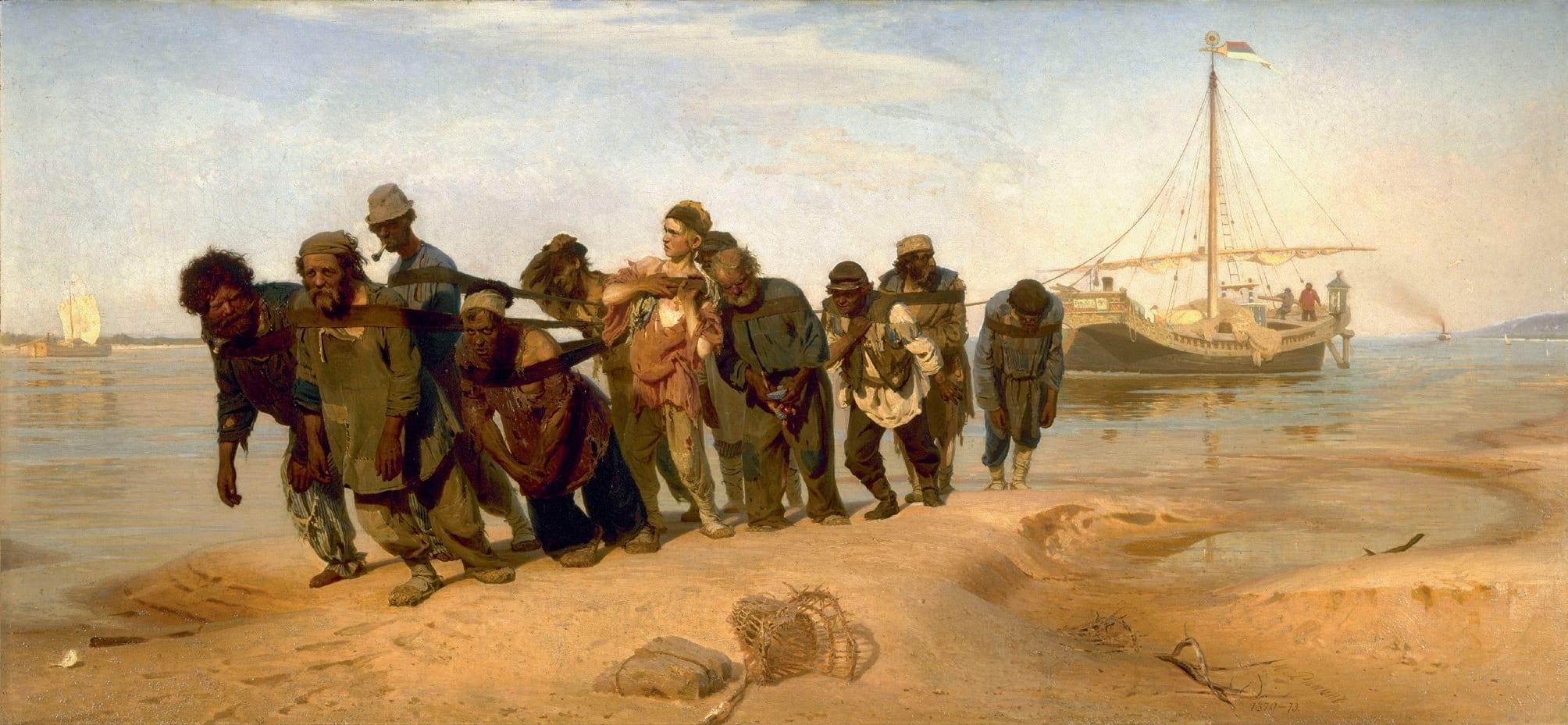Ilia Efimovich Repin, Burlaks on the Volga, 1872–1873