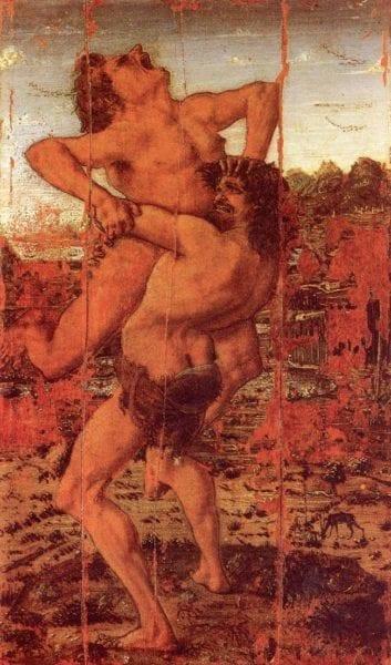 Antonio Pollaiuolo, Herkules und Antäus, circa 1475