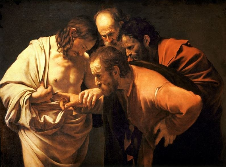 Caravaggio - Der ungläubige Thomas