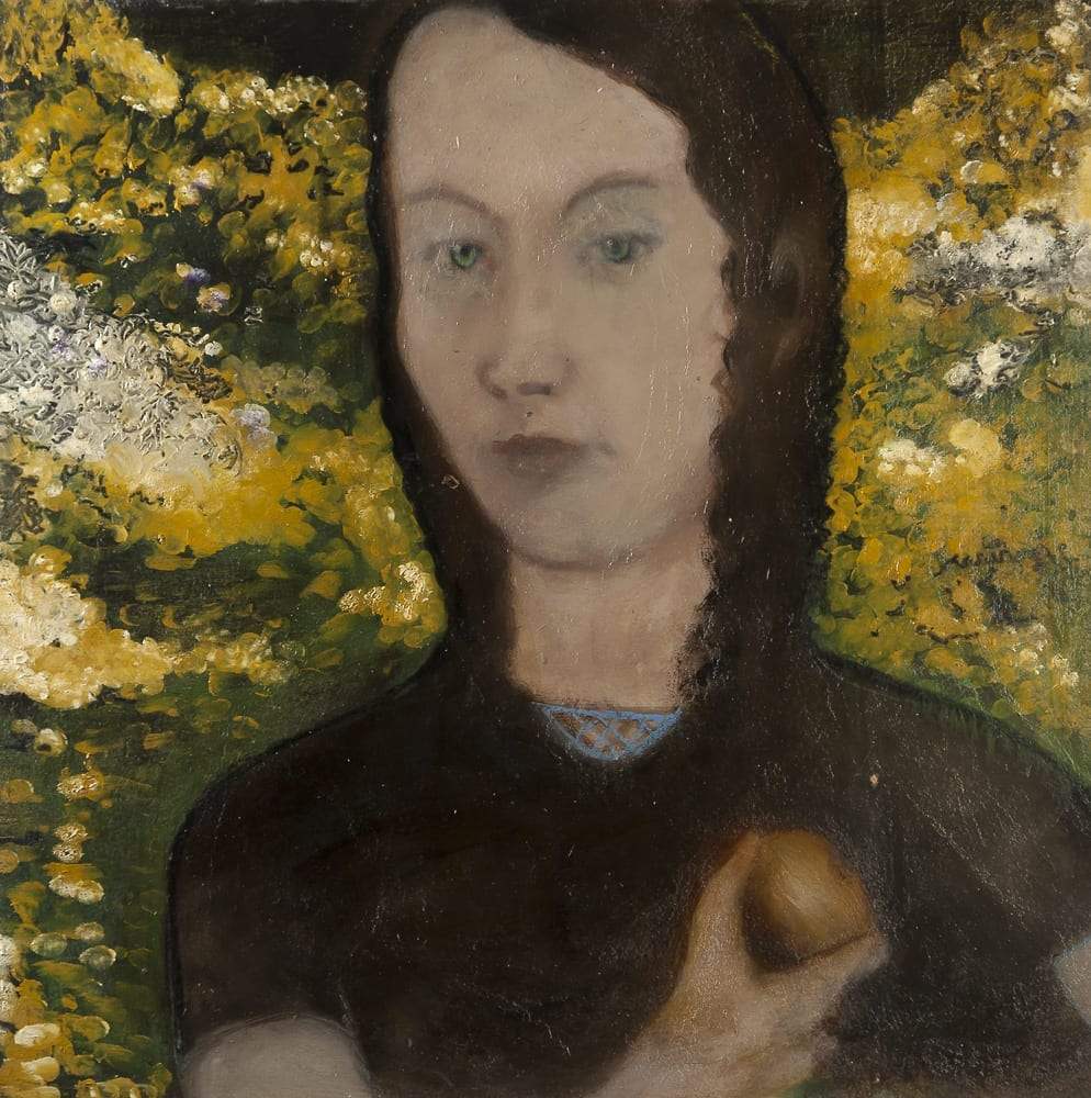 Girl holding an Onion, 70 x 70, 2002