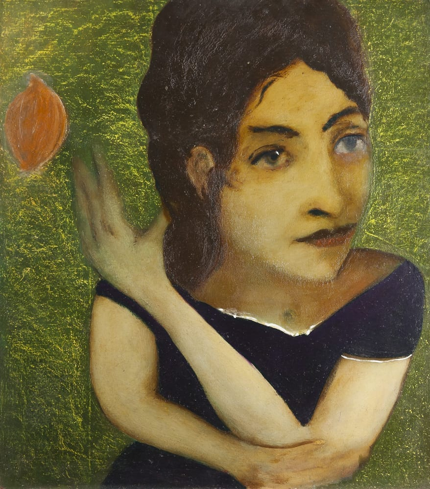 Girl throwing an Onion or Galatea et Nature, 80,5 x 70, 2001-2002