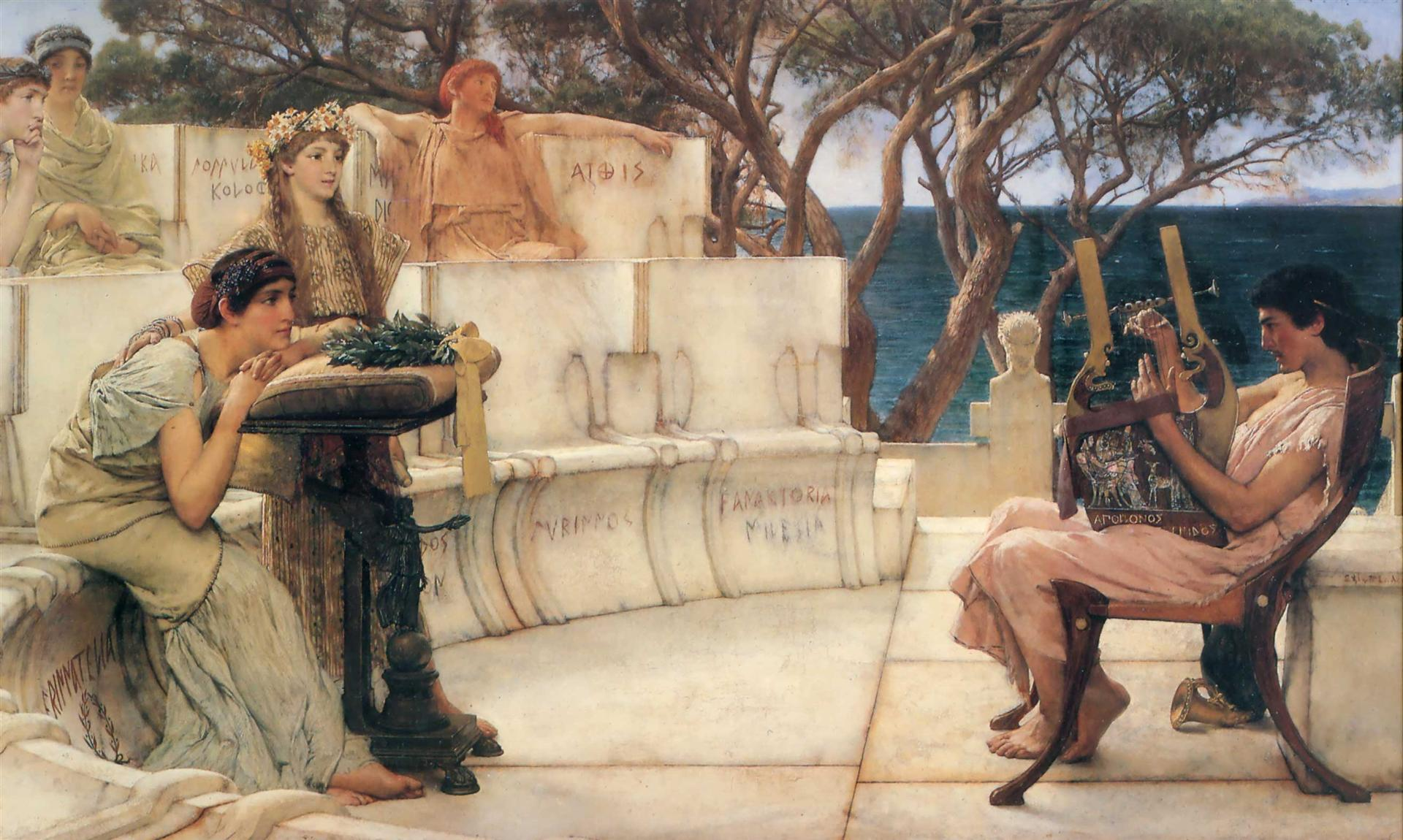Sappho and Alcaeus, 1881 - Sir Lawrence Alma-Tadema