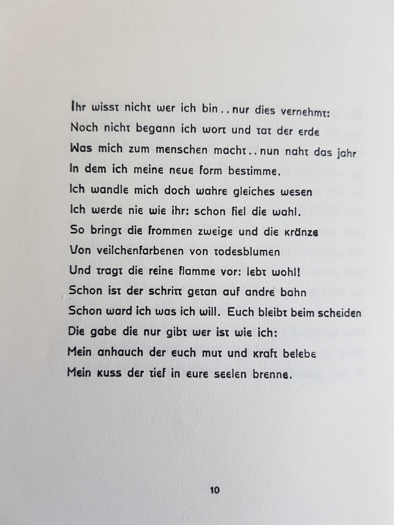 Stefan George - Ich wisst nicht wer ich bin..., aus 'Stern des Bundes' 1914