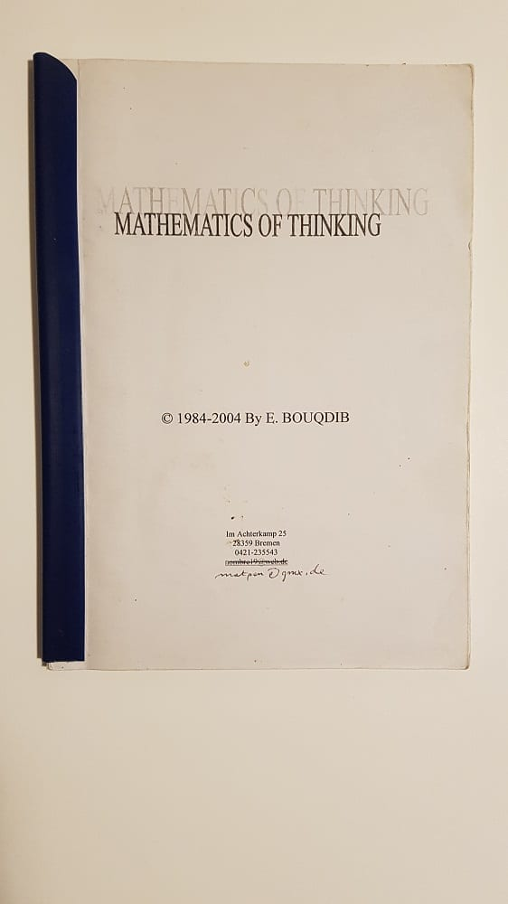 Mathematics of Thinking
