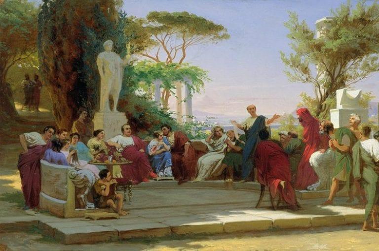 Fedor Andreevich Bronnikov - Horaz liest seine Satiren vor Maecenas, 1863