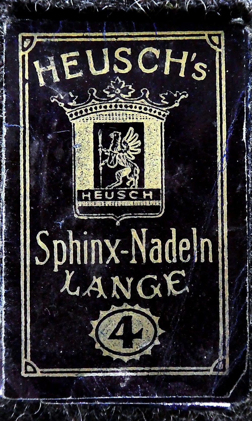 Nadelbrief Sphinx- Nadeln Lange 4 Heusch Aachen ca. 1950
