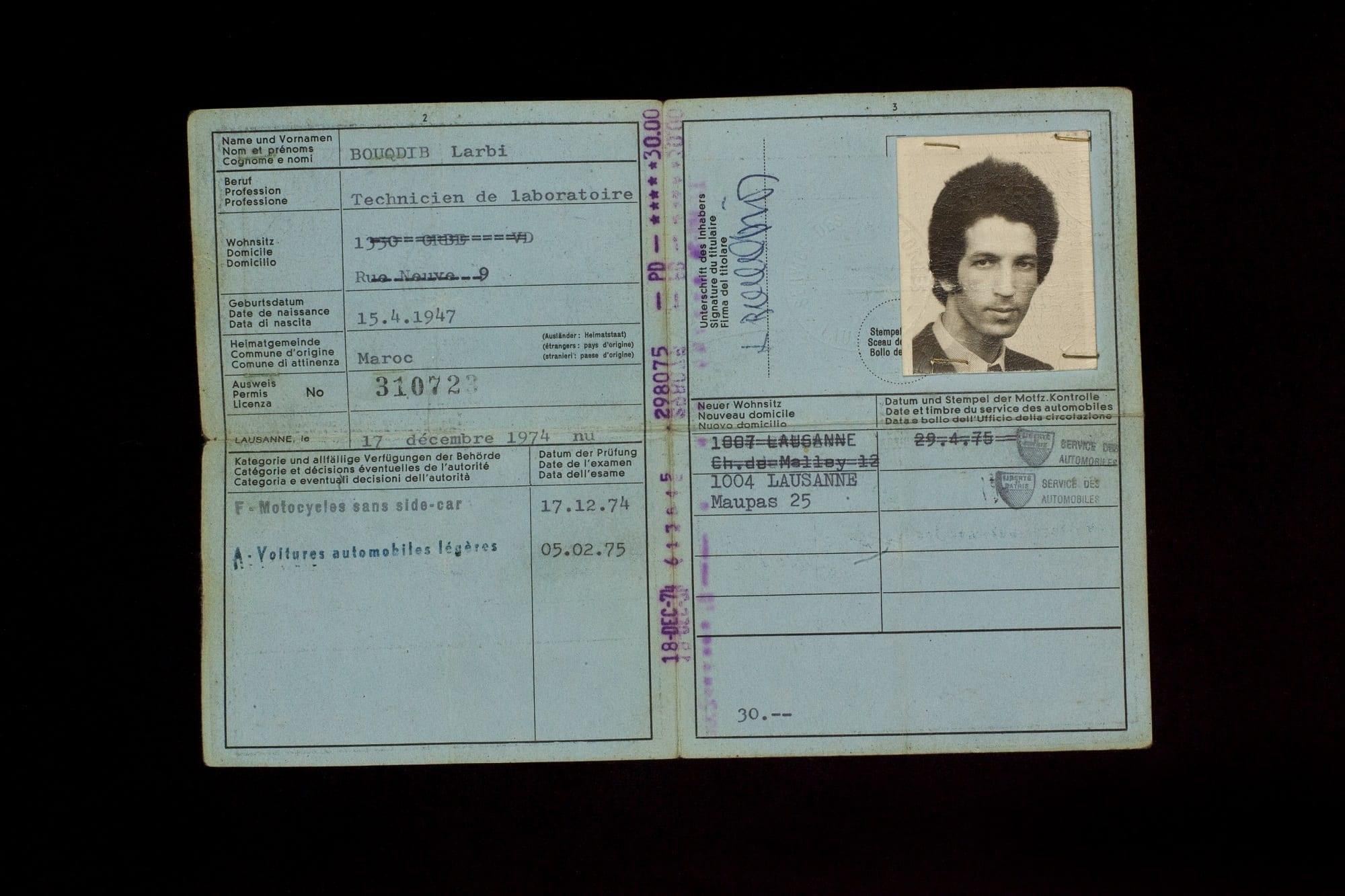 1-6 Führerausweis # 310723 | Permis de conduire # 310723 (17. Dezember 1974)
