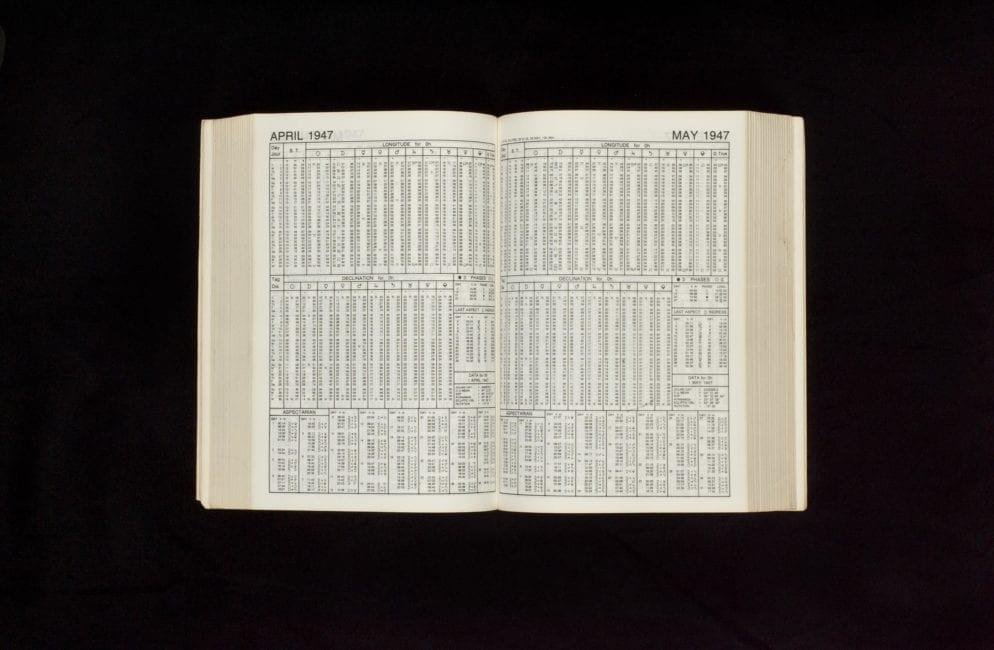 Rosicrucian Ephemeris 1900-2000: AtMidnight, 0 Hour Tdt |  April 1947 – May 1947 (1984)