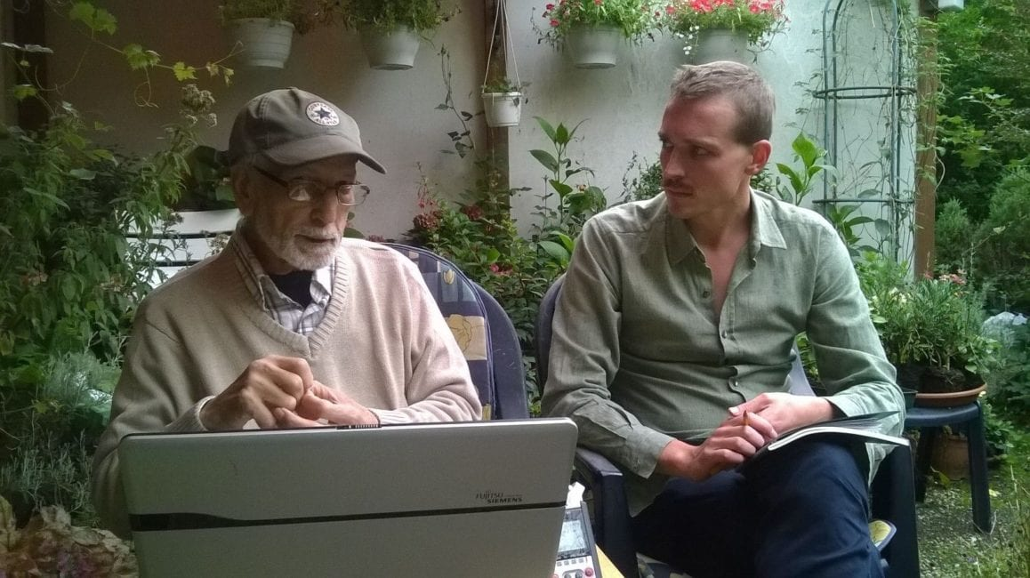 In conversation with El Arbi Bouqdib. August 2015