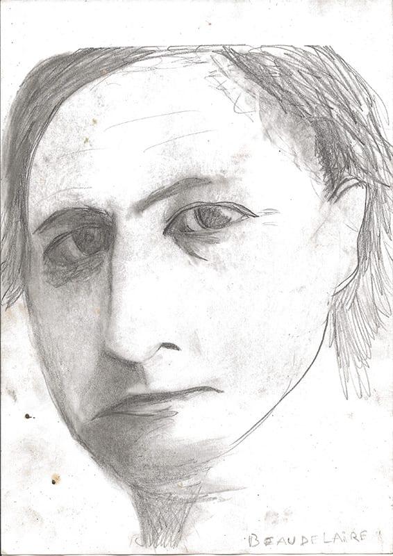 Hommage a Baudelaire, 2001, Bleistift und Kohle auf Papier