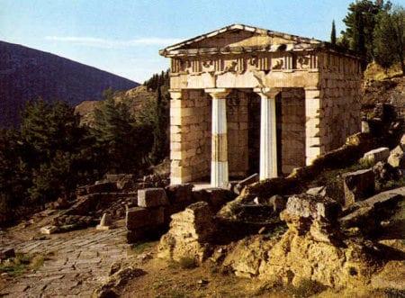 Schatzhaus der Athener in Delphi