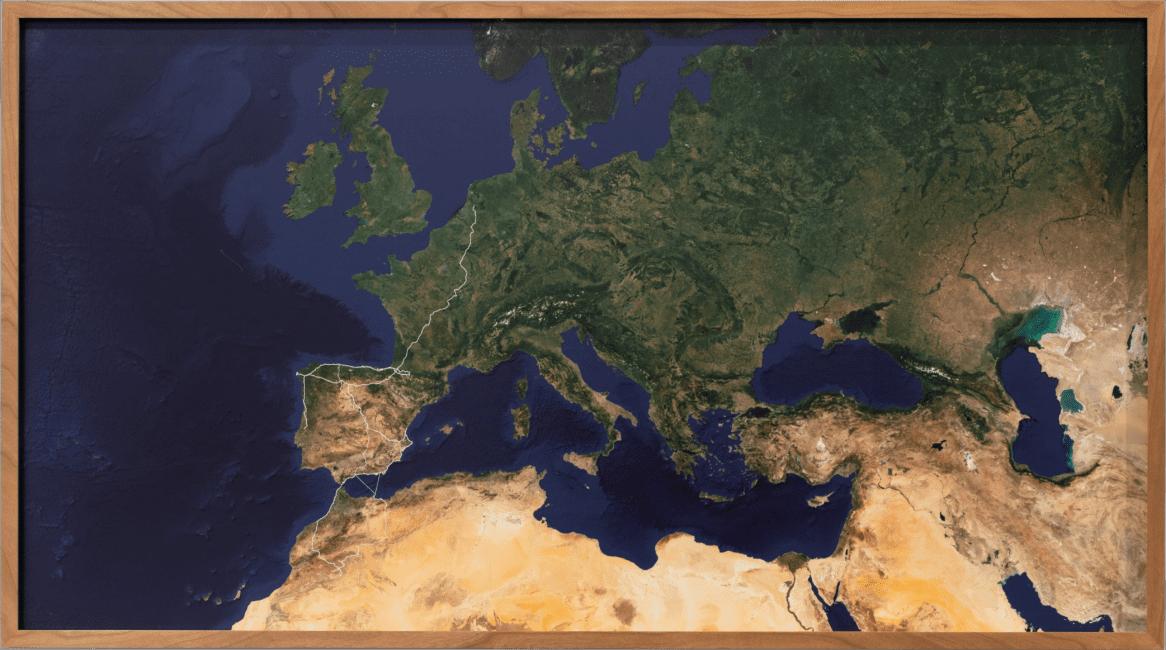 Gabriel in Zusammenarbeit mit Julian M. H. Schindele Karte I – 15.9.2015–7.8.2019, 2019 Pigmentdruck auf Photo Rag Baryta, 54 × 97 cm